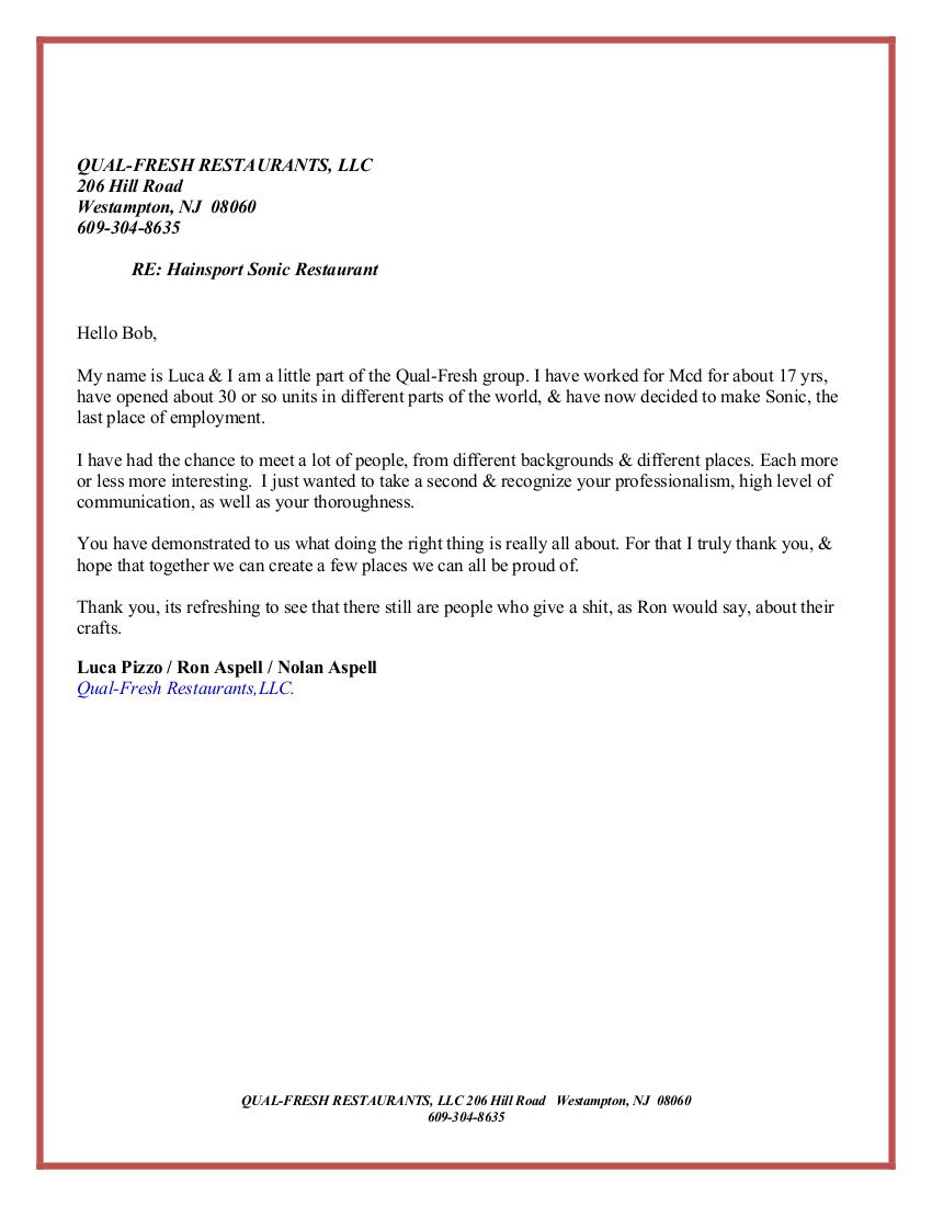 Hovnanian Referral Letter